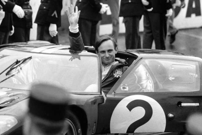 Chris Amon driving