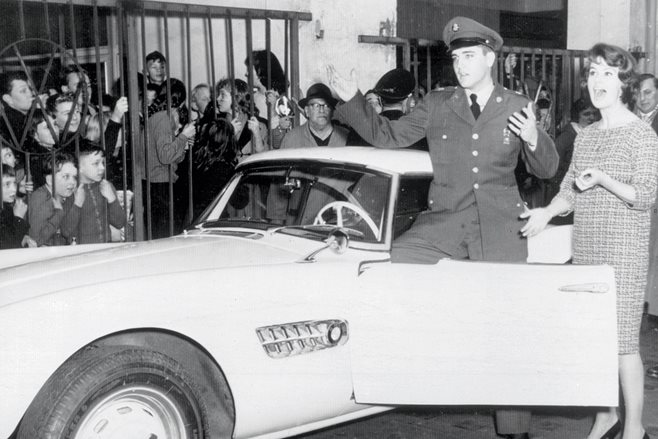 BMW 507 with Elvis Presley