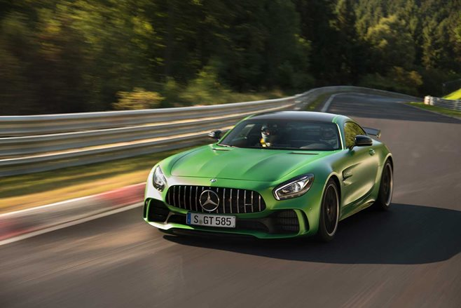 AMG GT R thrashed at the Nurburgring