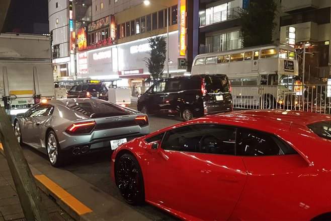 Lamborghini Huracan LP-580 in Japan