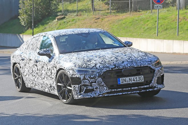 NEXT-GENERATION Audi A7 Sportback has been snapped in saucy S7 guise ...