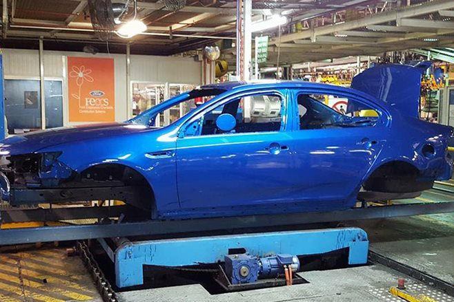 Ford Falcon Australian factory production line