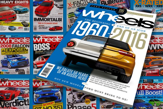 Ford Falcon Wheels Magazine covers