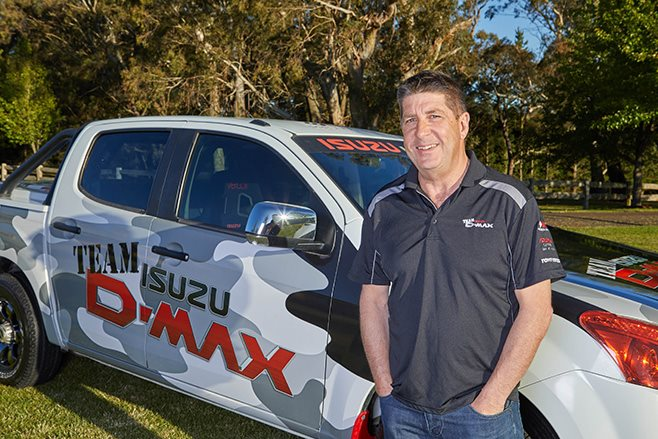 Wayne Boatwright of Isuzu Team D-Max precision driving team