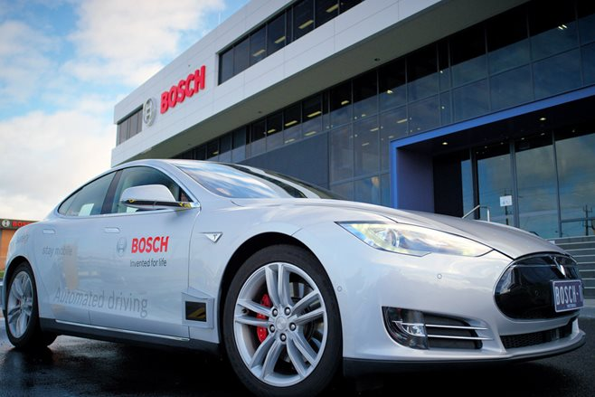 Bosch driverless Tesla Model S