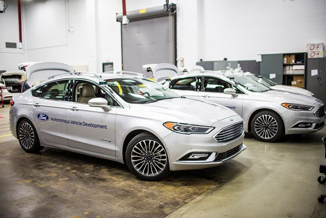Ford Fusion autonomous development vehicle.