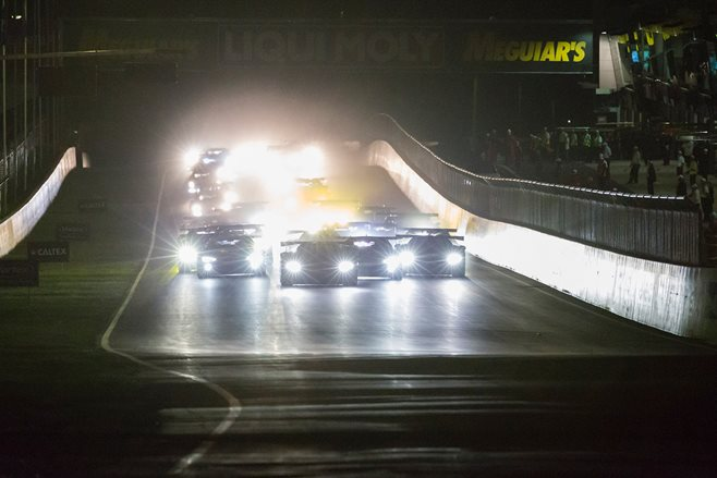 2017 Bathurst 12-Hour race at night