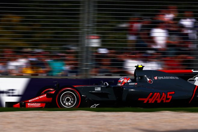 gallery_Haas_Kevin Magnussen at the 2017 Australian Grand Prix