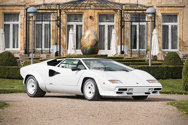 lamborghini countach for sale with gold plated interior. Black Bedroom Furniture Sets. Home Design Ideas