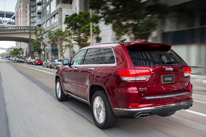 2016 Jeep Grand Cherokee driving rear