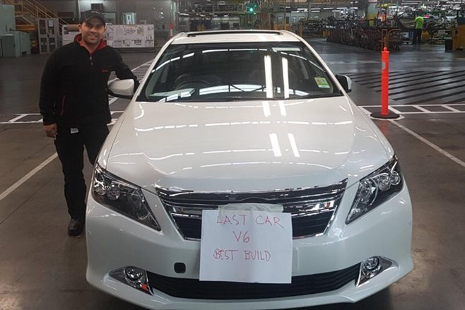 The last Australian built Toyota Aurion