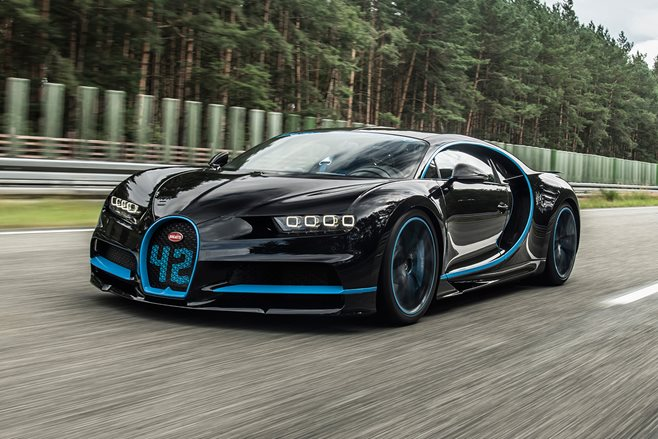 Bugatti Chiron smashes world record in 42 seconds