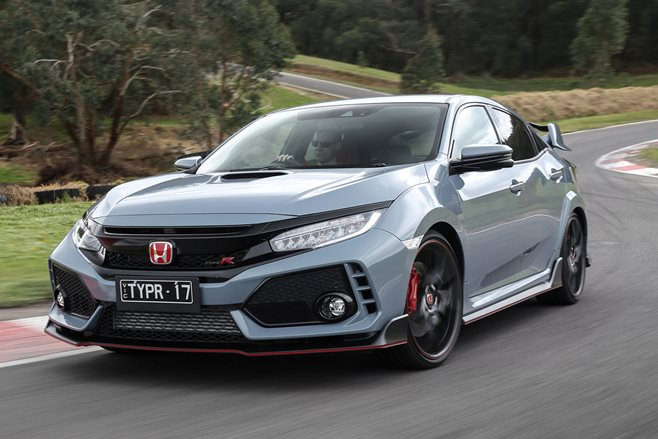 2018 honda civic typer front side action header