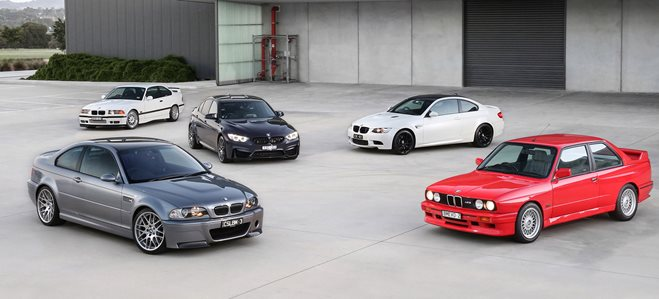 30 years of BMW M3's
