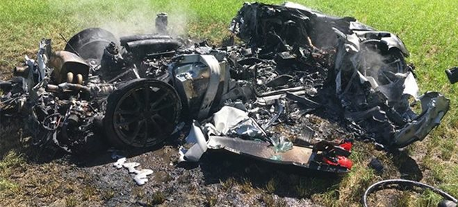 Ferrari F430 Scud goes up in flames on new owner's first drive