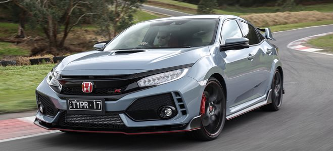 2018 honda civic typer front side action header w