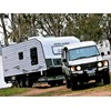 Newlands Caravans Onyx being towed