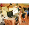 Spinifex EpiX caravan interior kitchen view