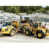 The L120 wheel loader and A25F hauler have been upgraded with autonomous technology