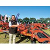 Chris West from Power Farming with the Kverneland Turbo 4T