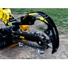 You can start trenching with the heavy-duty crumber in the ground.