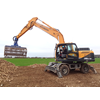 The Hyundai R210W-9A wheeled excavator loading sugar beet in France.