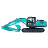 The new Kobelco SK210LC-10 excavator.