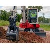 The Takeuchi TB280FR zero-tail-swing excavator.