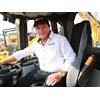 Bauma China 2014: Ron in the operator's seat of the XCMG 1200 loader.