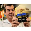 Innovate Ag chairman Kerry Watts with butterfly pea extract.
