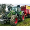 The Fendt 716 S4 tractor pulling the Herron trailer