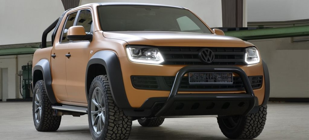 V8 VW Amarok gets dirty