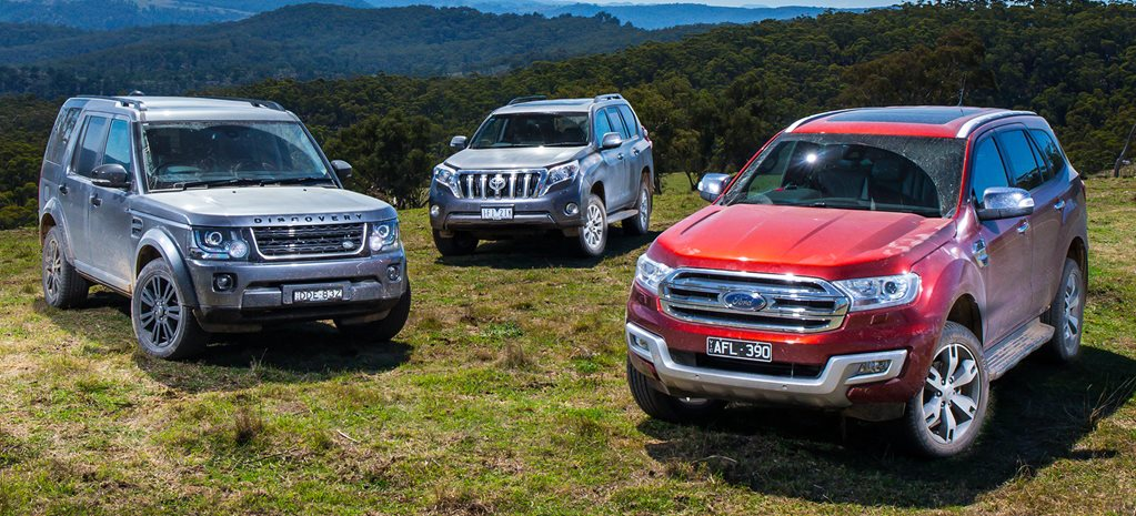 Ford Everest vs Land Rover Discovery vs Toyota Prado