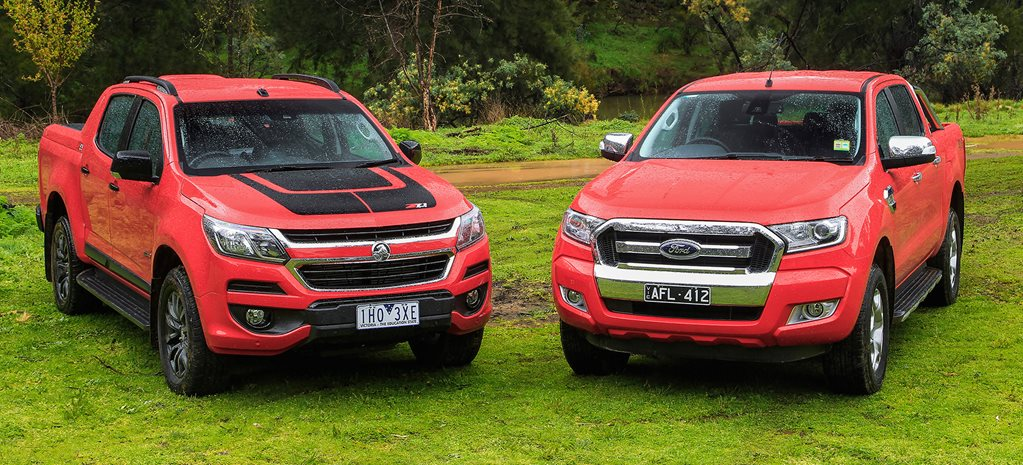 Holden Colorado Z71 vs Ford Ranger XLT video review
