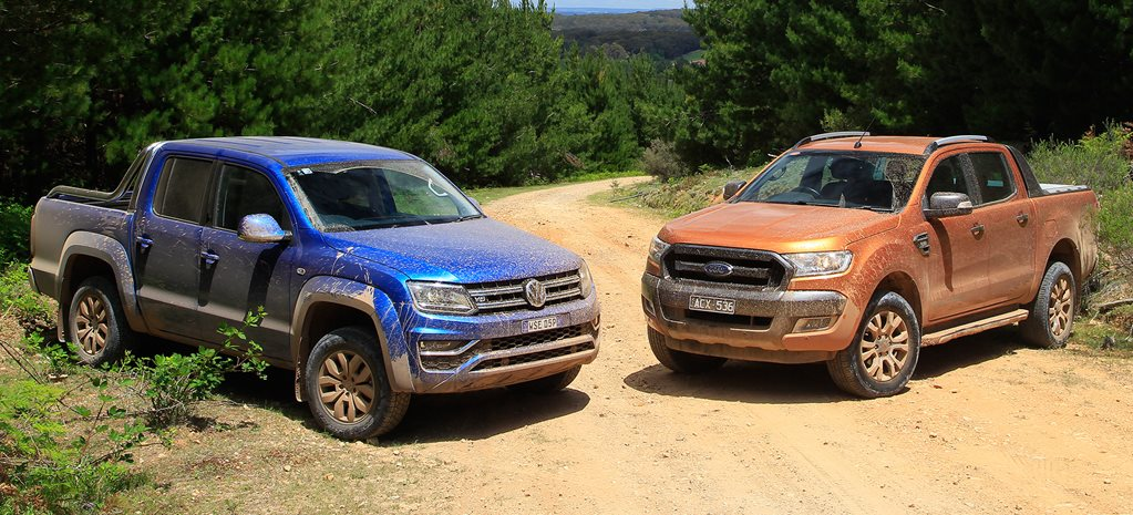 Volkswagen Amarok vs Ford Ranger: Video review