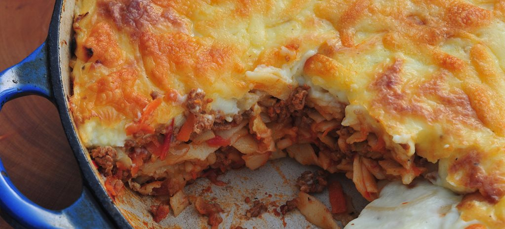 Recipe Spaghetti And Beef Mince Pasta Bake