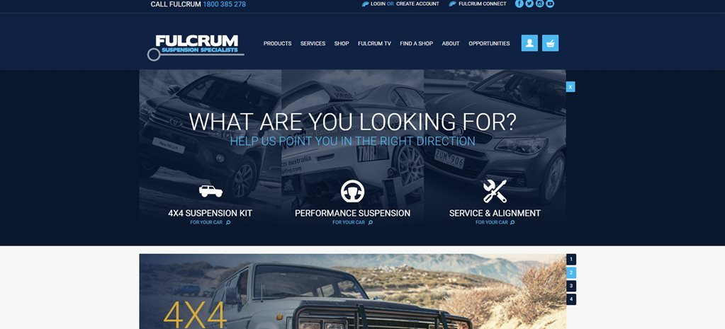 Fulcrum new website main