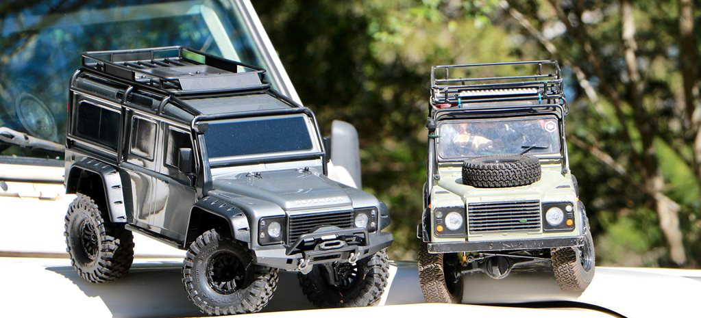 Land Rover Defender model vehicles