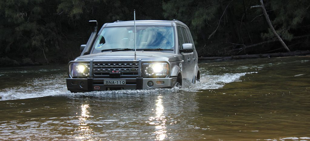 Land Rover watercossing Deua National Park NSW