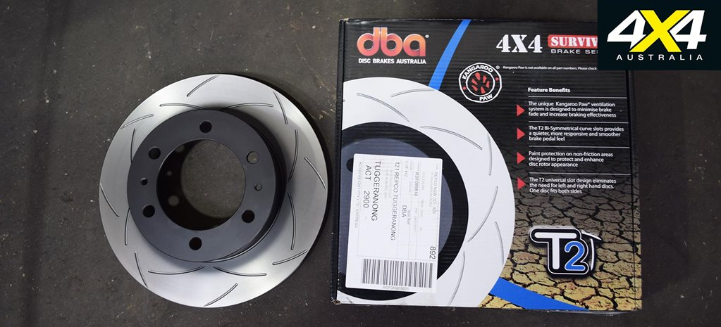 Brake upgrade: Bendix brake pads with DBA slotted disc brakes