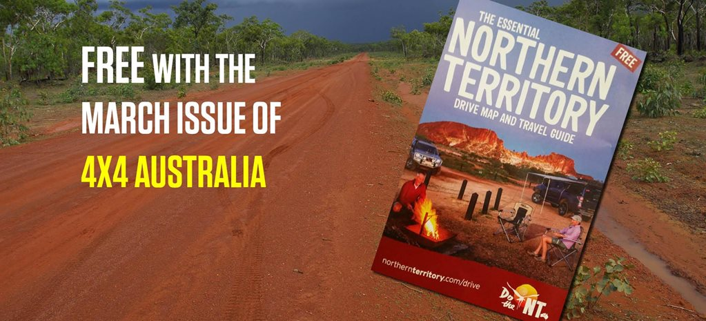 Free NT drive map and travel guide with 4X4 Australia
