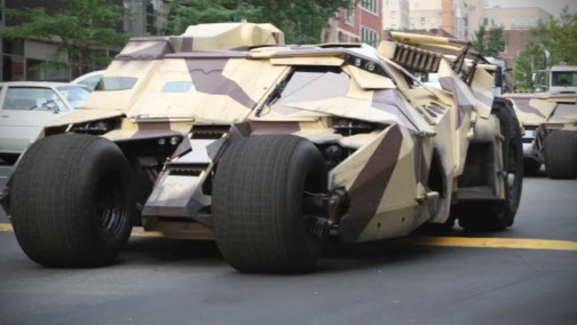 Batmobile Tumbler cruising in Pittsburgh