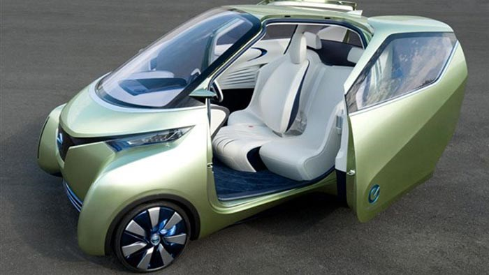 New Nissan PIVO 3 concept car of the future