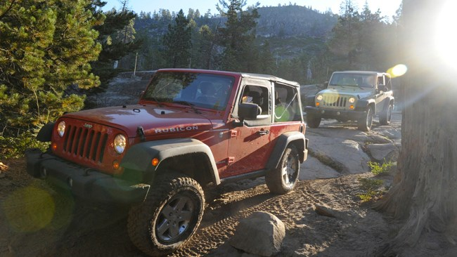 Jeeps on the rubicon