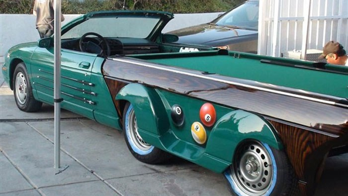 Pool table car