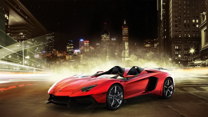 Lamborghini reveal open-top Aventador J at Geneva