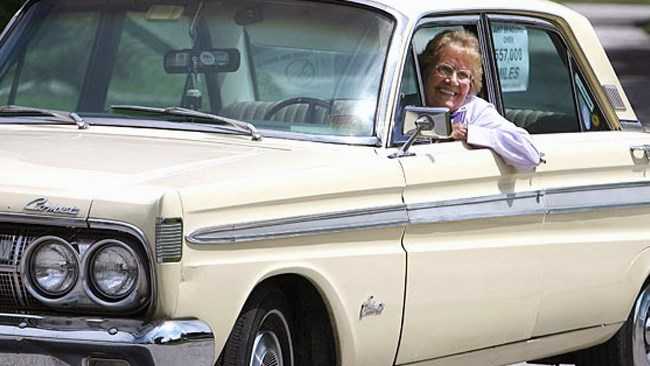 Woman, 93, retires '64 Mercury after clocking almost one million kilometres