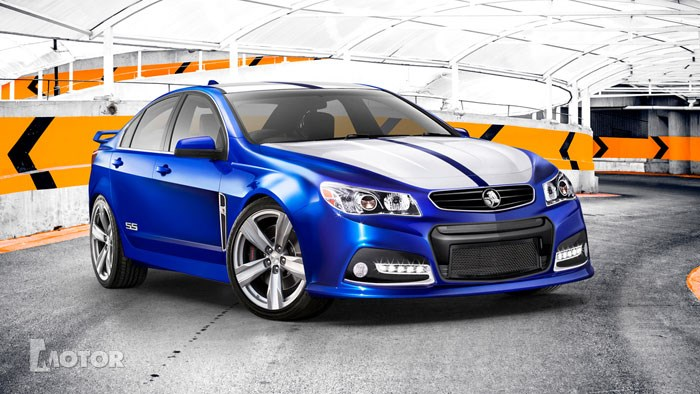 Computer render of Holden's 2103 VF Commodore