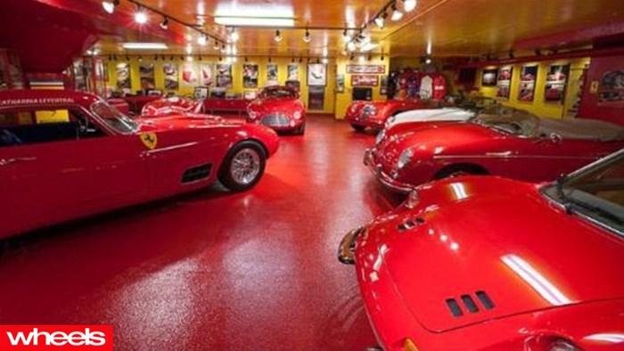 wheels magazine, For sale: Ferrari-filled man cave