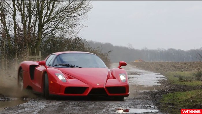 The Ferrari Enzo WRC, off road, driving, wheels magazine, 2013
